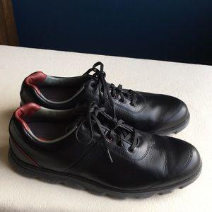"FootJoy ""Dryjoys Casual"" black golf shoes sz 10"